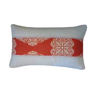 Medallion Pieces Rust Floral 12x20-inch Pillow
