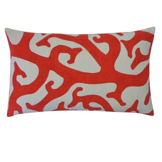 Reef Red Abstract 12x20-inch Pillow