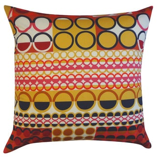 Johari Maroon Polka-dot 20x20-inch Pillow