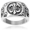 Vance Co. Men's Stainless Steel Fleur-de-lis Ring