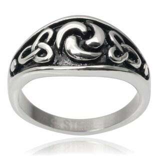 Vance Co. Men's Stainless Steel Celtic Ring