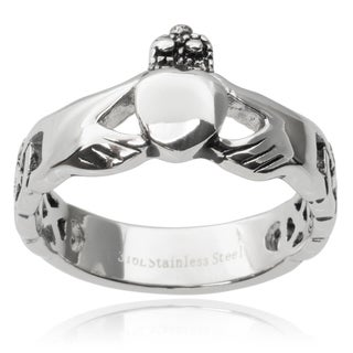 Tressa Collection Stainless Steel Claddagh Ring