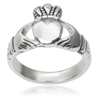Journee Collection Stainless Steel Claddagh Ring