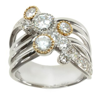 Michael Valitutti Signity Two-tone Cubic Zirconia Ring
