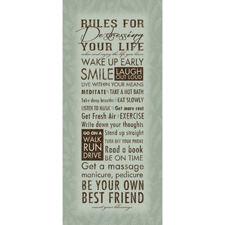 Stephanie Marrott 'Rules For De-stressing Your Life' Sagebrush Fine Art Paper Poster