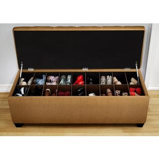 Mission-Style 30-Pair Shoe Storage Bench - Shoe Storage - Entryway Furniture