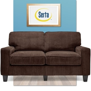 Serta San Paolo Collection Mink Brown Fabric Love Seat