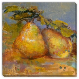 Sylvia Angeli's 'Pair of Pears' Canvas Gallery Wrap