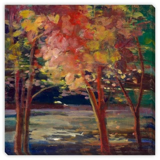 Sylvia Angeli's 'Autumn Trees' Canvas Gallery Wrap