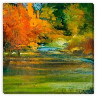 Sylvia Angeli's 'Late Summer's Expectation II' Canvas Gallery Wrap