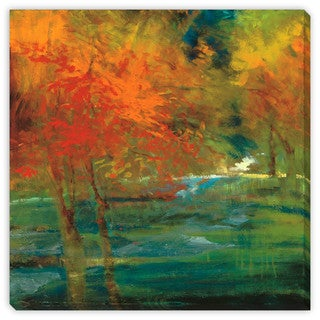 Sylvia Angeli's 'Late Summer's Expectation III' Canvas Gallery Wrap