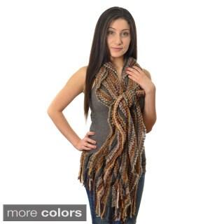 Women's Multicolored Knit Scarf