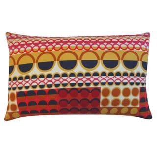 Jiti Johari Maroon Polka-dot 12x20 Pillow