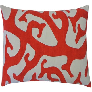 Reef Red Abstract 20x20-inch Pillow