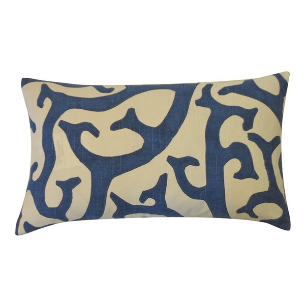 Reef Navy Abstract 12x20-inch Pillow