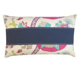 Amapola Pieces Purple Floral 12x20-inch Pillow