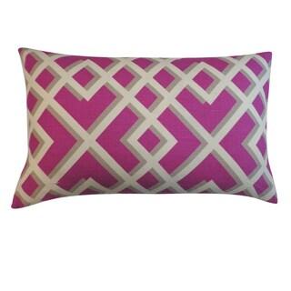 Flexi Purple Geometric 12x20-inch Pillow