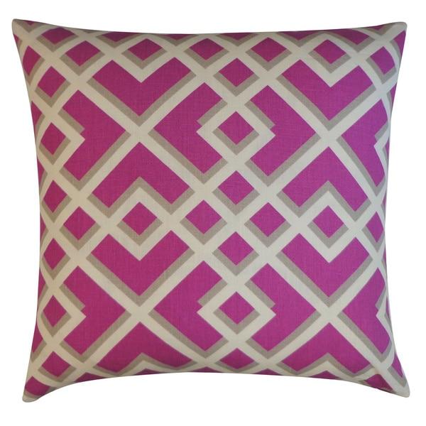 Flexi Purple Geometric 20x20-inch Pillow