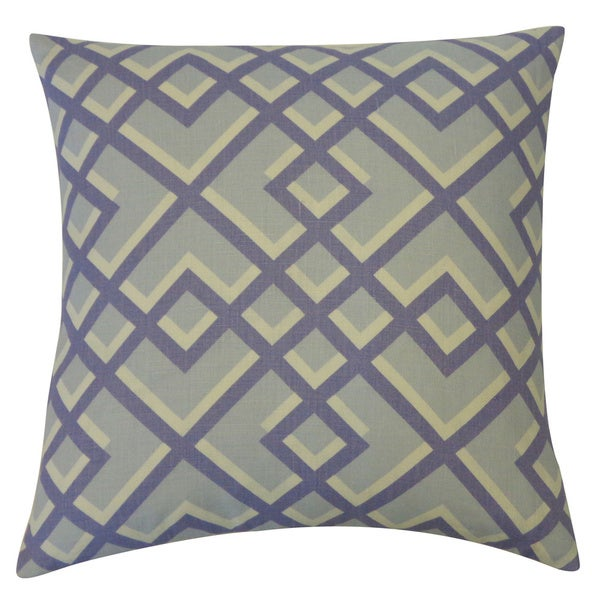 Flexi Blue Geometric 20x20-inch Pillow