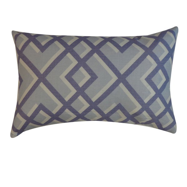 Flexi Blue Geometric 12x20-inch Pillow