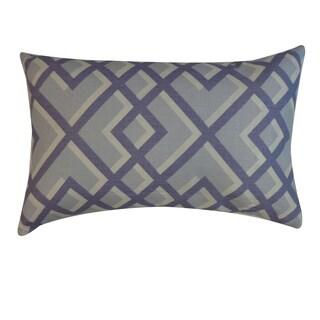 Flexi Blue Geometric 12x20-inch Pillow