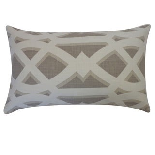 Crossroads Grey Geometric 12x20-inch Pillow