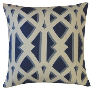Crossroads Navy Geometric 20x20-inch Pillow