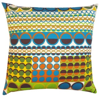 Johari Blue Polka-dot 20x20-inch Pillow