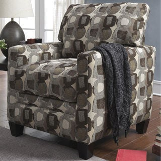 Serta Martini-coconut Print Fabric Track Arm Accent Chair