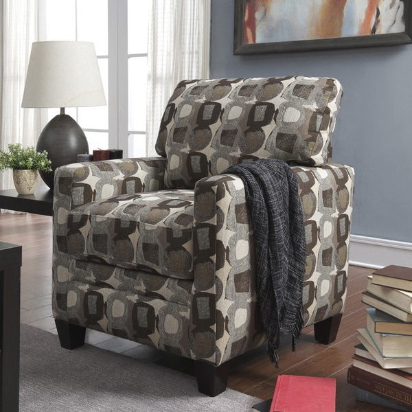 Serta Martini Coconut Print Fabric Track Arm Accent Chair
