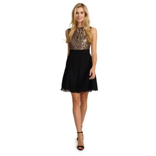 Little Mistress Women's Sequin Sleeveless Dress