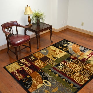 Contemporary Geometric Modern Multicolor Area Rug (7'10 x 10'3)