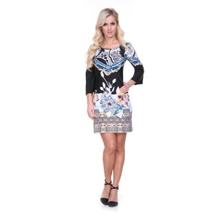 White Mark Women's 3/4 Bell Sleeve Dress