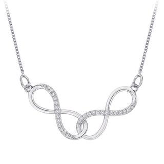10k White Gold 1/6ct TDW Diamond Infinity Necklace (G-H, I2-I3)