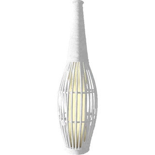 30-inch Solar Bamboo Vase with White Light