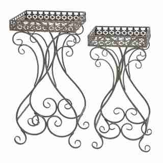 Plant Stand with Curvy Design and Space Efficient - Set of 2