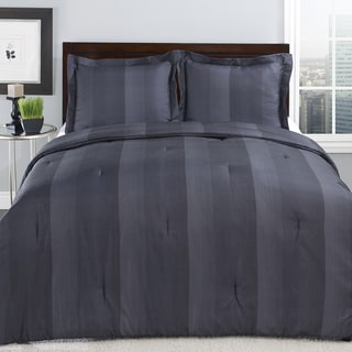 Perry Ellis Adrien Stripe Slate 3-piece Comforter Set