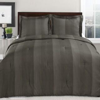 Perry Ellis Adrien Stripe Bark 3-piece Comforter Set