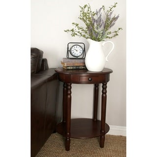 Accent Table With Plum Purple Mahogany Wood