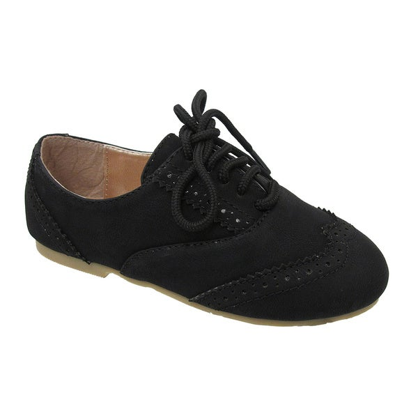Yokids 'Katty T' Girls Black Toddler Oxfords