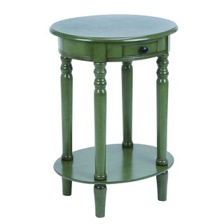 Accent Table With Polished Grass Green Wood