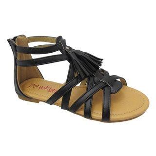 Yokids 'Bea' 06K Girl's Black Sandal Shoes