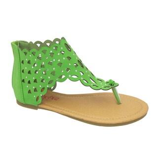 Yokids 'Karylle' 82K Girl's Lime Gladiator Sandals