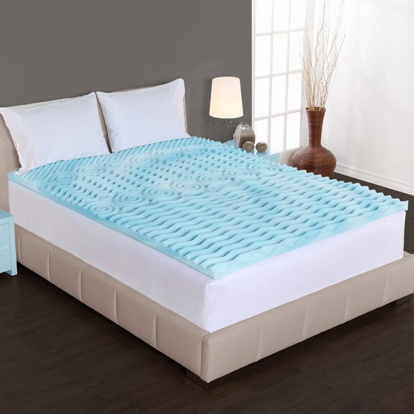 Dream Form 3-inch Orthopedic 5-zone Gel Foam Mattress Topper (As Is Item)