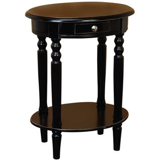 Wood Oval Accent Table