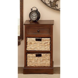 Modern Cabinet With 2 Wicker Baskets