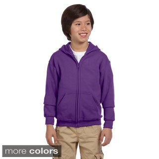 Gildan Youth Heavy Blend 50/50 Full-zip Hooded Sweatshirt