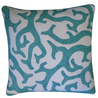 Reef Teal Abstract 20x20-inch Pillow