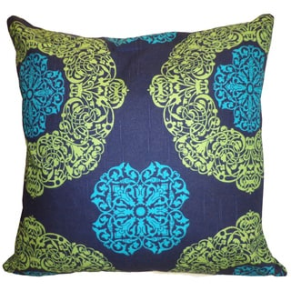 Medallion Blue Floral 20x20-inch Pillow