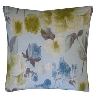 Mandolin Lime Floral 20x20-inch Pillow